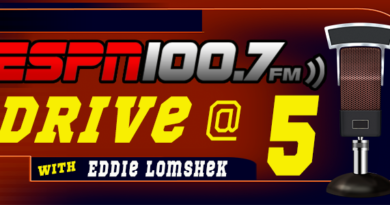 The Drive at 5 with Eddie Lomshek.  Monday January 13th